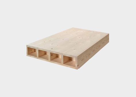Forjat alveolar de fusta massissa Lignatur
