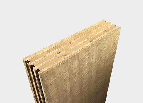 Mur massis de fusta laminada