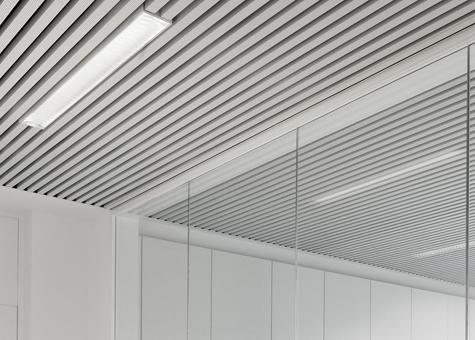 Fontdarquitectura for Lamas aluminio techo