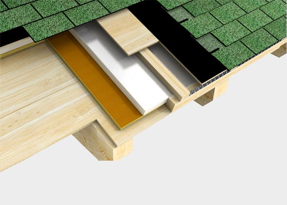 Sistema de coberta inclinada ventilada