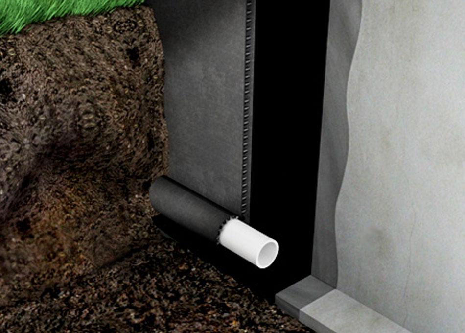 Sistema d'impermeabilització per mur enterrat