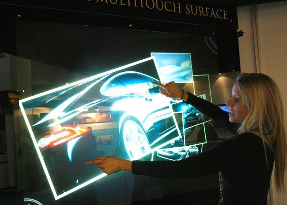 Làmina interactiva de retroprojecció