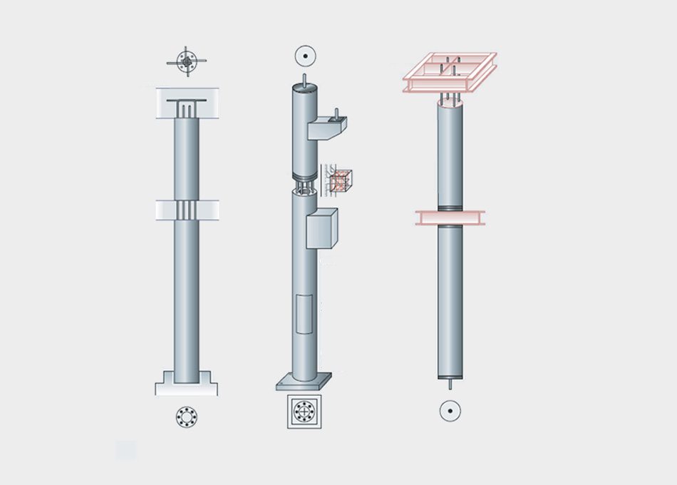 Pilar prefabricat de formigó centrifugat