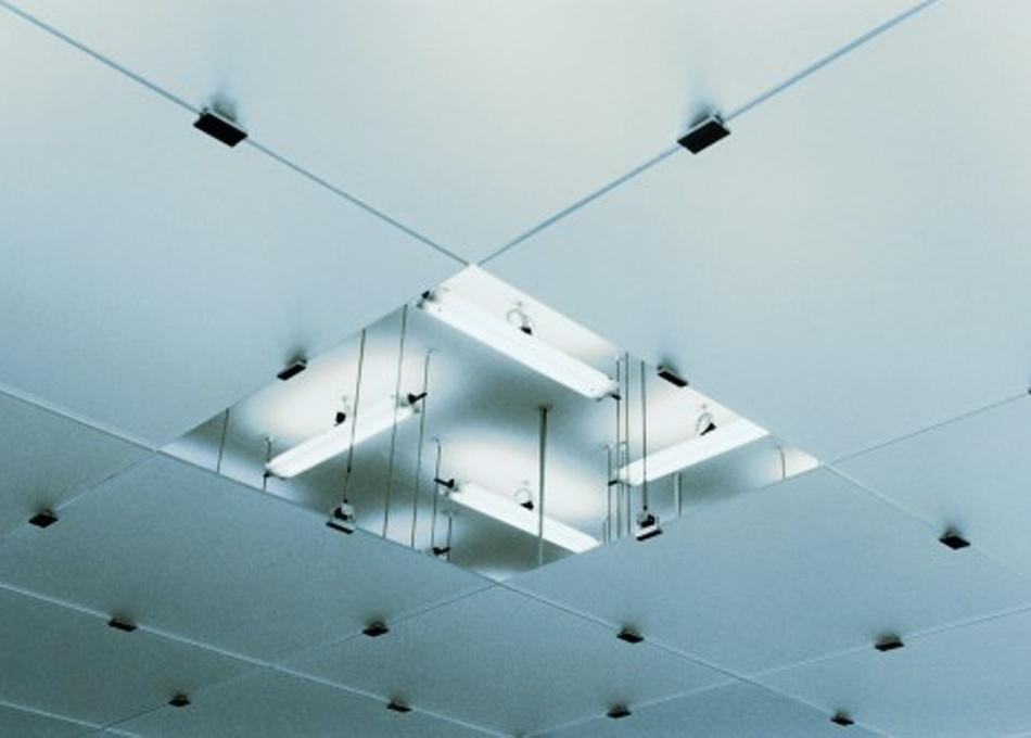 Sistema subjecció fals sostre vidre GM KUB 01