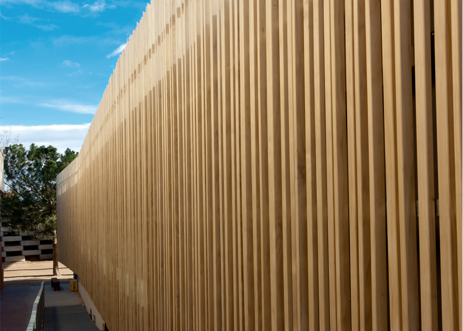Fontdarquitectura for Revestimiento exterior en madera