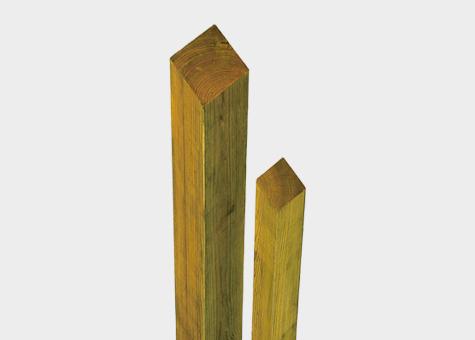Pilar fusta pi cuperitzat