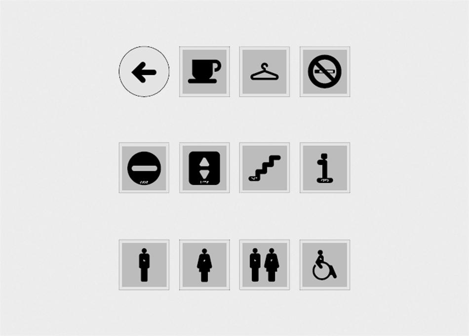 Senyalització pictogrames invidents Littera