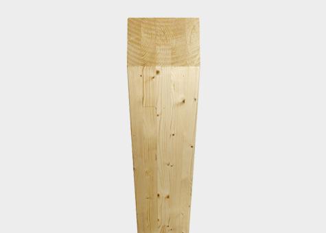 Pilar fusta d'avet